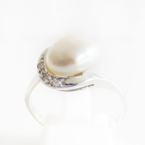 Ring Gold 585er Biwaperle Diamanten