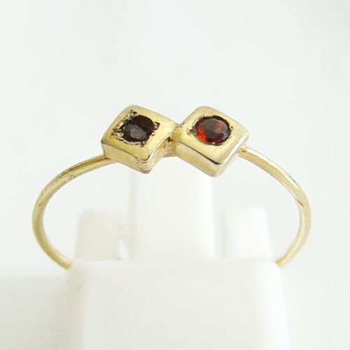 Ring Gold 333er Granat