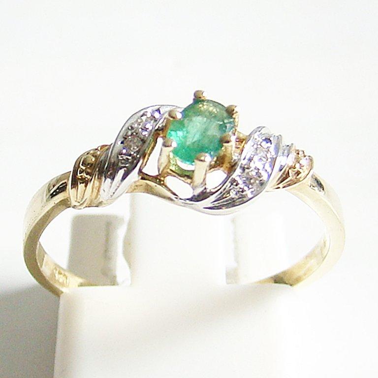 Prächtig Ring Gold 585 Diamanten Smaragd - Edler Schmuck in feinster Qualität #NH_53