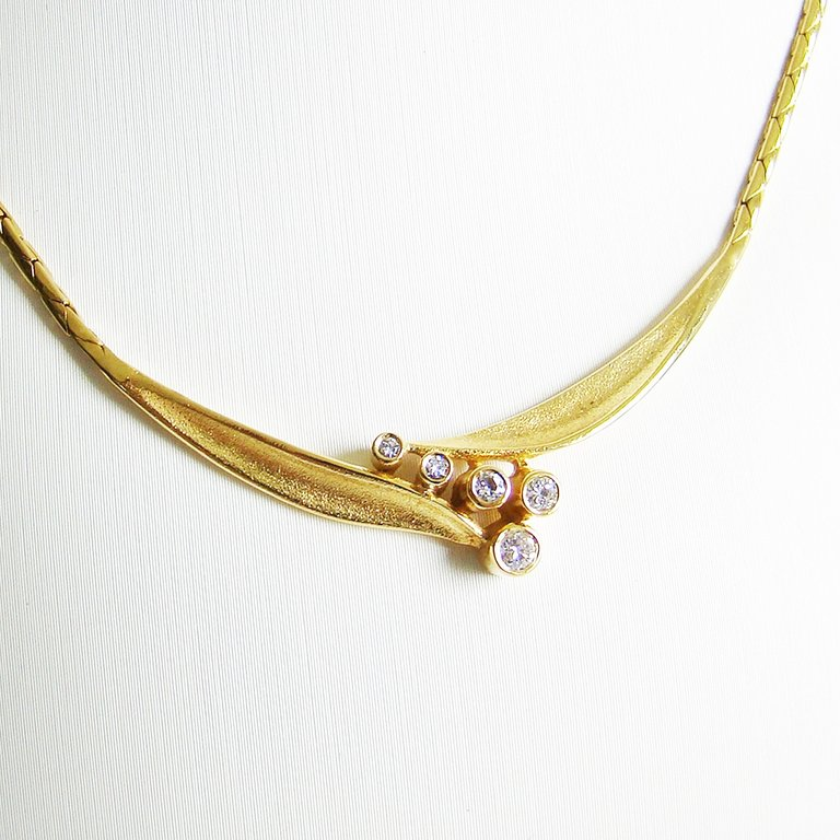 Collier Gold 585er 0,12 ct Brillanten