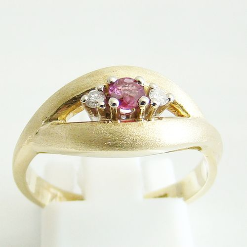 Ring Gold 585er Diamanten Rubin