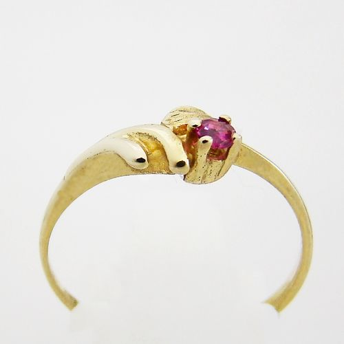 Ring Gold 333er Rubin