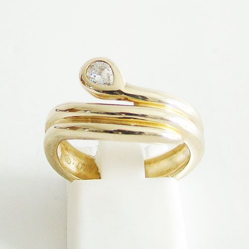 Ring Gold 585er 0,17 ct. Brillant Schlange