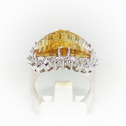Ring Gold 585 Citrin Brillanten