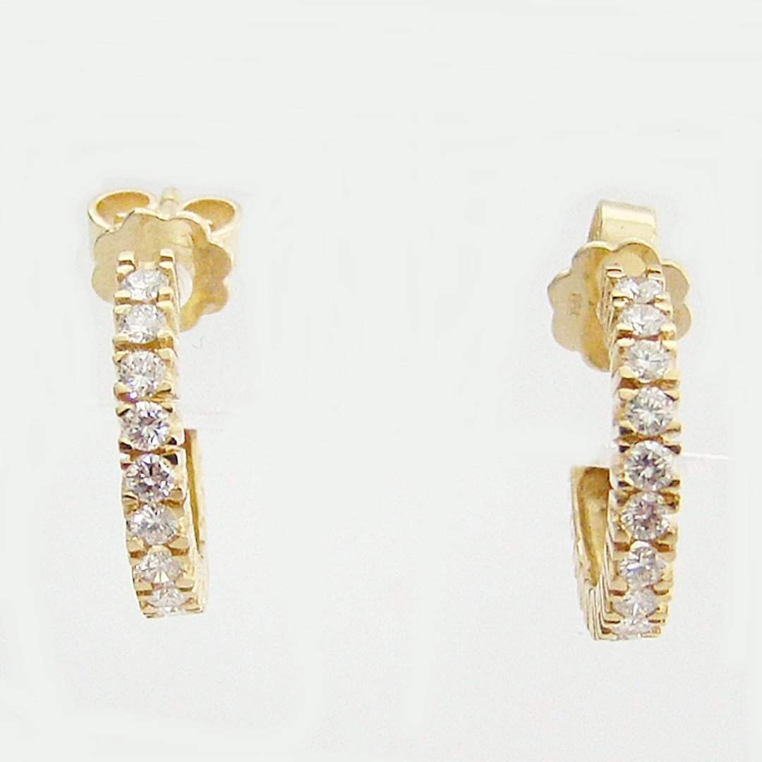 Ohrringe Gold 750 0,48 ct. Brillanten