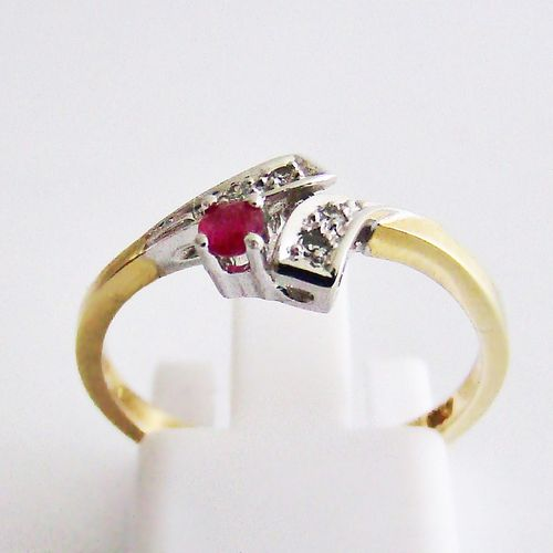 Ring Gold 585 Diamanten Rubin