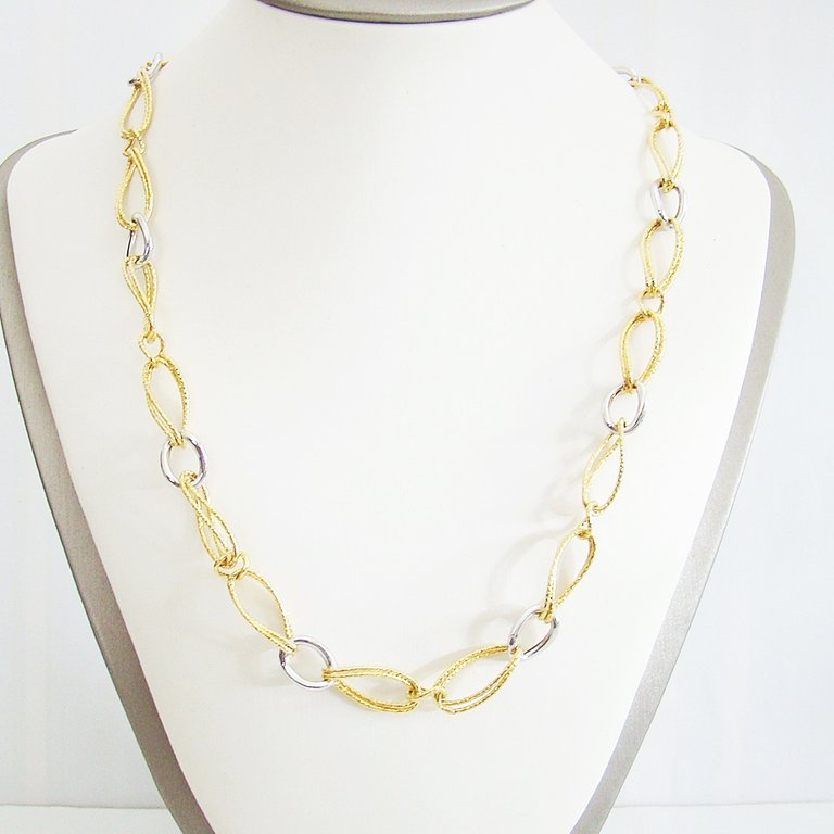Collier Gold 375 Bi-Color