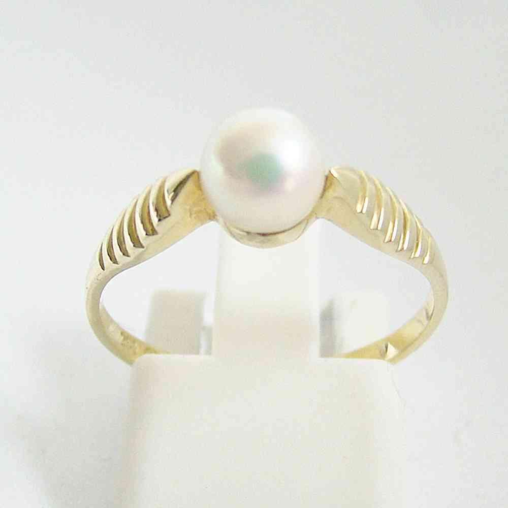 Ring Gold 585 Perle Edler Schmuck In Feinster Qualitat