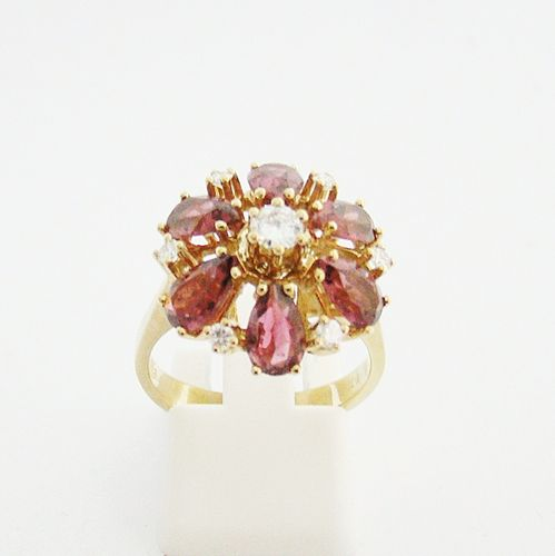 Ring Gold 585 Amethyst Brillanten