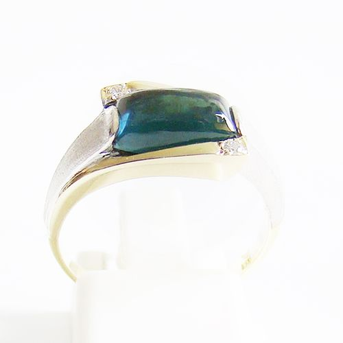 Ring Gold 585er Turmalin blau