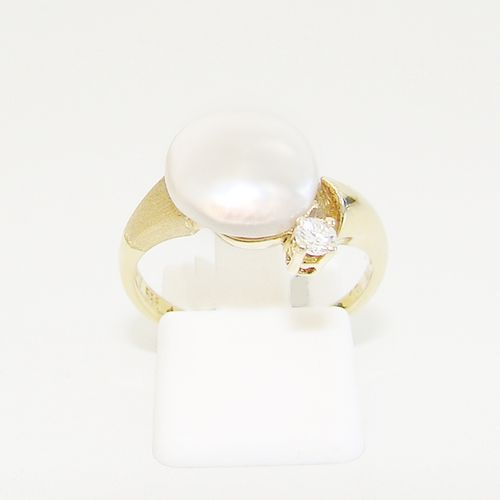 Ring Gold 585er Biwa Brillant