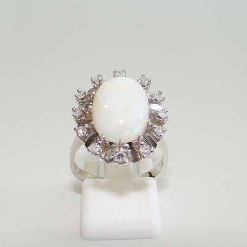 Ring Gold 585 Opal Brillanten