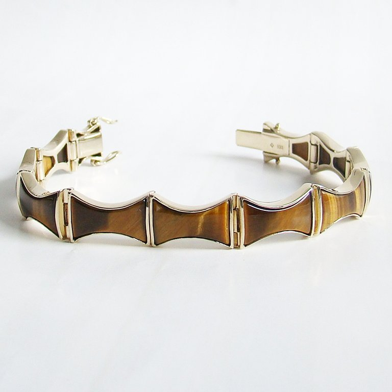 Armband Gold 333 Tigerauge