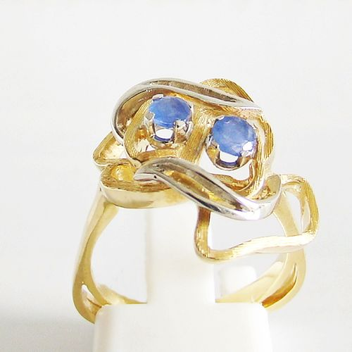 Ring Gold 750er Bicolor Saphire