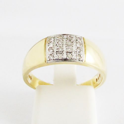 Ring Gold 585er Diamanten Bandring